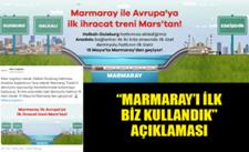 """""""Marmaray'ı ilk biz kullandık"""" açıklaması"""