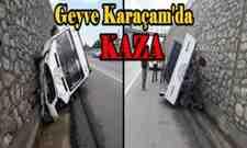 SON DAKİKA! Geyve Karaçam'da kaza! Karaçam'da ucuz atlatılan kaza.