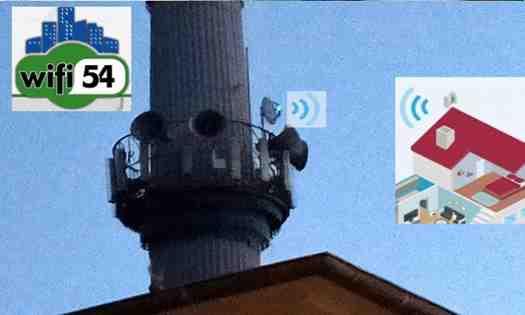 Wifi54 Kışlaçay Mahallesin'de Minareye Verici Çanak Taktı!