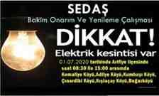 Kışlaçay Mahallemizde O Tarihte Planlı Elektrik Kesintisi Yaşanacak!