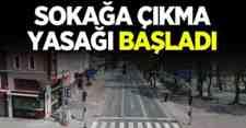 Dikkat : 81 ilde sokağa çıkma yasağı başladı!