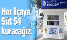Büyükşehir Belediye Başkanı Ekrem Yüce : Her ilçeye Süt54 kuracağız !