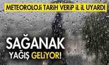 Meteoroloji Tarih Verdi..Sağanak Yağış Geliyor!