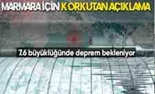 Marmara için korkutan açıklama