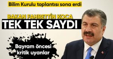 Bakan Fahrettin Koca,dan Bayram Uyarısı Tek Tek Saydı!