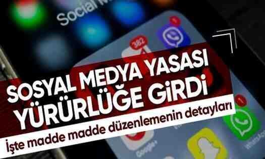 Sosyal Medya Yasası Resmi Gazete'de Yayımlanarak Yürürlüğe Girdi..