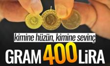 Tarihi Rekor Gram Altın 400 Lira !
