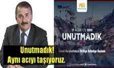 Başkan Karakullukçu'dan 17 Ağustos Depremi mesajı