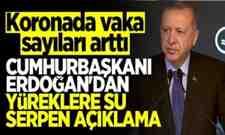 Cumhurbaşkanı Erdoğan: Salgın kontrolümüz altında.