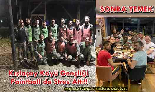 Kışlaçay Köyü Gençliği Paintball da Stres Attı!!