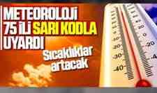 Meteoroloji 75 İli Sarı Kodla Uyardı!Sıcaklık Geliyor..