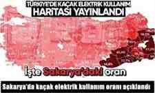 Sakarya'da kaçak elektrik kullanım oranı açıklandı.