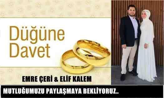 Elif Kalem & Emre Çeri Çifti Bu Mutlu Günümüzde Sizleri de Bekleriz..