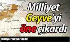 """Milliyet """"Geyve"""" dedi!"""