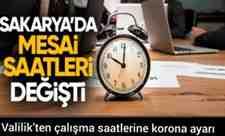 Sakarya'da Mesai Saatleri Değişti!