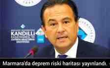 Marmara'da deprem riski haritası yayınlandı.