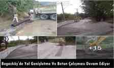 Boğazköy mahallesinde beton yol çalışması yapılıyor!