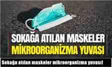 Sokağa atılan maskeler mikroorganizma yuvası!
