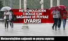 Meteorolojiden sağanak ve poyraz uyarısı