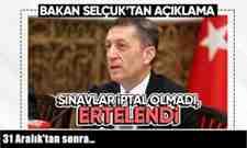 Milli Eğitim Bakanı Ziya Selçuk ; 31 Aralık'tan sonra…