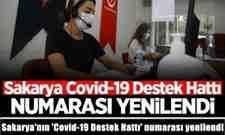 Sakarya'nın 'Covid-19 Destek Hattı' numarası yenilendi.