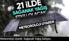 Meteoroloji Uyardı  Sağanak Yağış Geliyor..