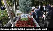 Şehit Kaymakamımız Muhammet Fatih Safitürk mezarı başında anıldı.