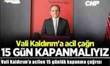 Başkan Keleş'ten Vali Kaldırım'a acilen 15 günlük kapanma çağrısı