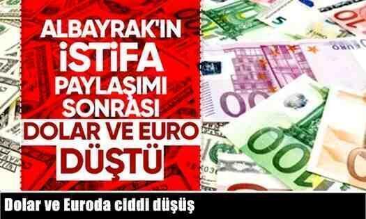 Albayrak'ın İstifa Paylaşımı Sonrası Dolar ve Euro Düştü!