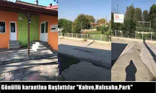 """Ahmediye Mahallesinde gönüllü karantina: """"Kahve,Halısaha,Park"""""""