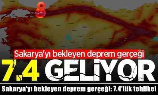 Sakarya'yı bekleyen deprem gerçeği: 7.4'lük tehlike!