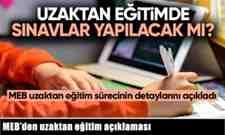 Milli Eğitim Bakanlığı'dan uzaktan eğitim açıklaması..