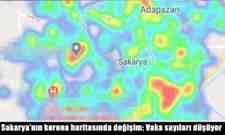 Sakarya'nın korona haritasında değişim; Vaka sayıları düşüyor