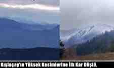 Kışlaçay'ın Yüksek Kesimlerine İlk Kar Düştü.