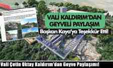 Vali Çetin Oktay Kaldırım'dan Geyve Paylaşımı!