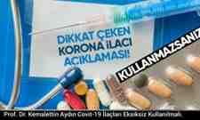 Prof. Dr. Aydın Covit-19 İlaçları Eksiksiz Kullanılmalı.