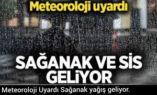 Meteoroloji Uyardı Sağanak yağış geliyor.