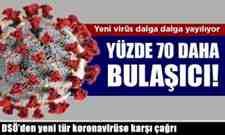 DSÖ'den yeni tür koronavirüse karşı çağrı.