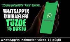 WhatsApp'ın indirmeleri yüzde 15 düştü.