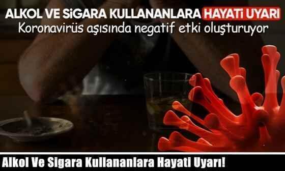 Alkol Ve Sigara Kullananlara Hayati Uyarı!