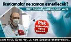 Bilim Kurulu Üyesi Prof. Dr. Kara Şubat'ta rahatlayabiliriz..