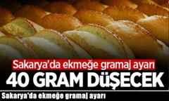 Sakarya'da ekmeğe gramaj ayarı.