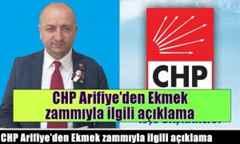 CHP Arifiye'den Ekmek zammıyla ilgili açıklama.