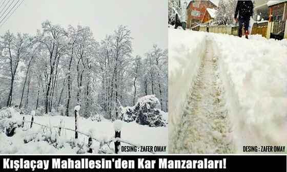 Kışlaçay Mahallesin'den Kar Manzaraları!