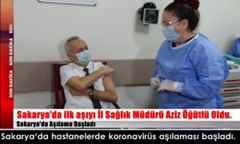 Sakarya'da hastanelerde koronavirüs aşılaması başladı.