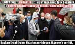 Başkan Erdal Erdem Hazırlanan 4 dosya Akşener'e verildi..