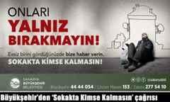Büyükşehir'den 'Sokakta Kimse Kalmasın' çağrısı