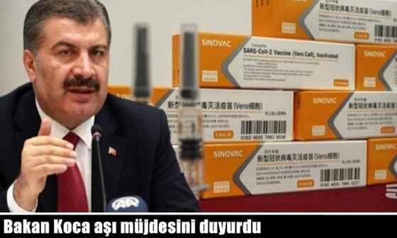 Sağlık Bakanı Fahrettin Koca aşı müjdesini duyurdu.