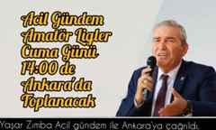 SASKF Başkanı Yaşar Zımba Ankara'ya Çağırıldı.