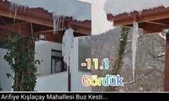 Arifiye Kışlaçay Mahallesi Buz Kesti…